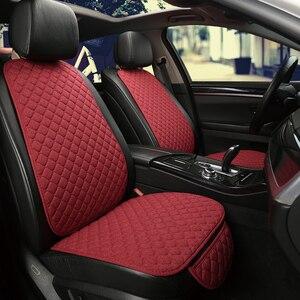 Image 4 - Funda protectora para asiento de coche, almohadilla de lino para asiento delantero o trasero, accesorios adecuados para todos