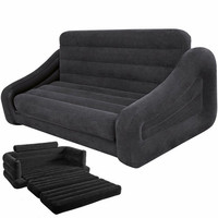 Double People Floor Couch Home Inflatable Sofa Bed For Living Room Furniture Folding Lazy Sofa Soft Velvet Comfort Beds Chair