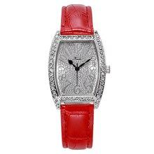 Fashion Luxury Bracelet Watches for Women Stylish Rhinestone gold Leather Strap Quartz Clock Ladies Wrist Watch Zegarek Damski