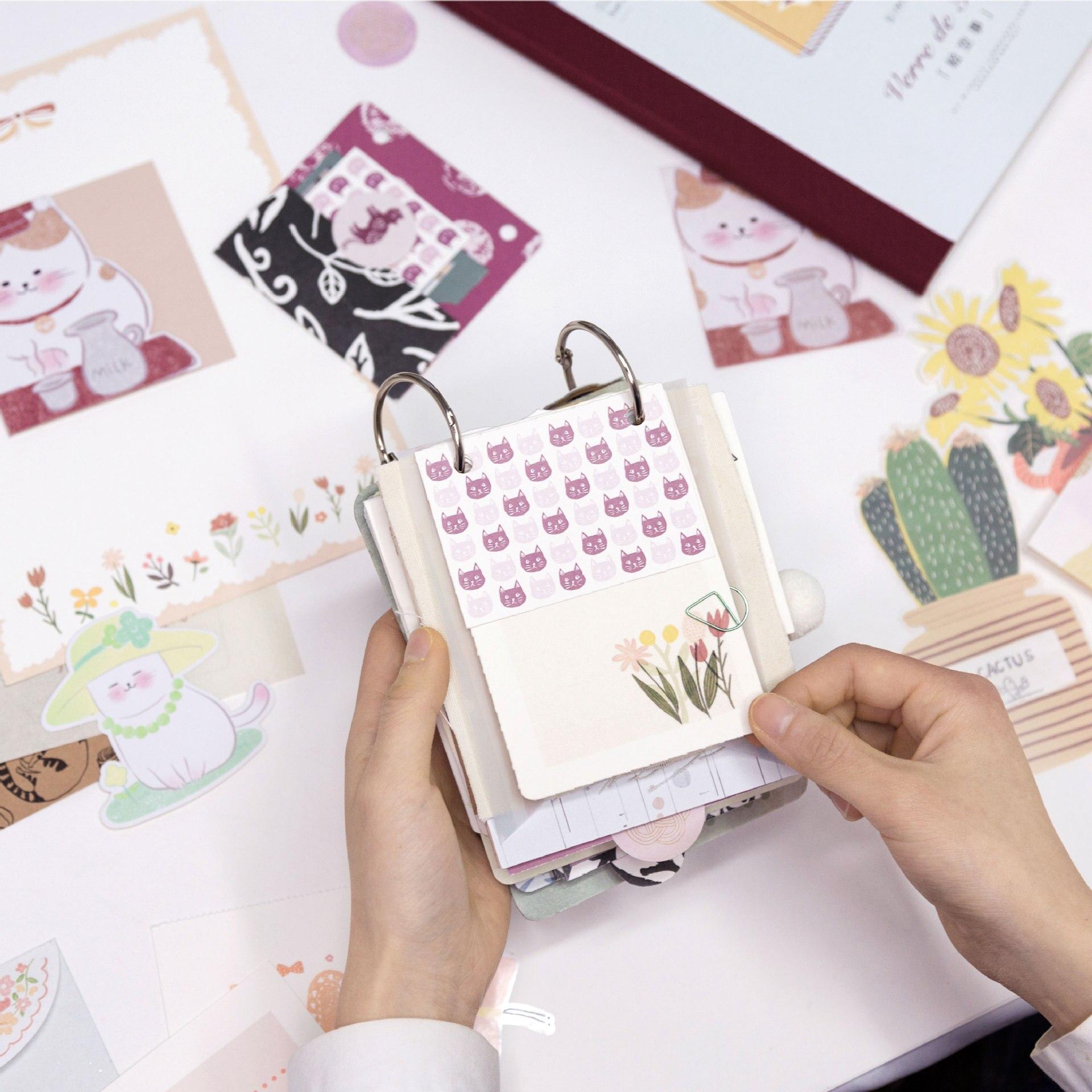 Diy cartoon decoração adesivo e memorando pacote