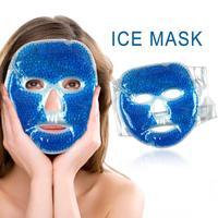 1 قطعة هلام بارد قناع الوجه الجليد ضغط الأزرق كامل الوجه التبريد قناع التعب الإغاثة وسادة الاسترخاء مع حزمة الباردة الرعاية Faicial