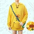 Костюм для косплея Ohto Ai из аниме WONDER EGG в приоритете, повседневная желтая Толстовка с вышивкой, пуловер, пальто, брюки с сумкой, униформа на Хэ...