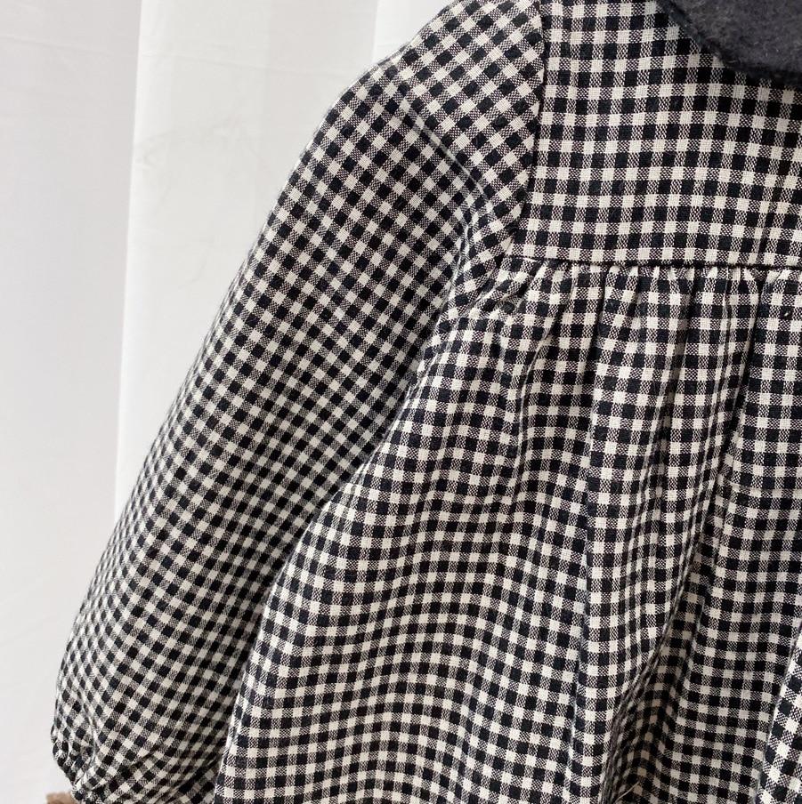 2021 Spring New Arrival Girls Long Sleeve Plaid Dress Kids Korean Design Cotton Dresses  Kids Clothes 3