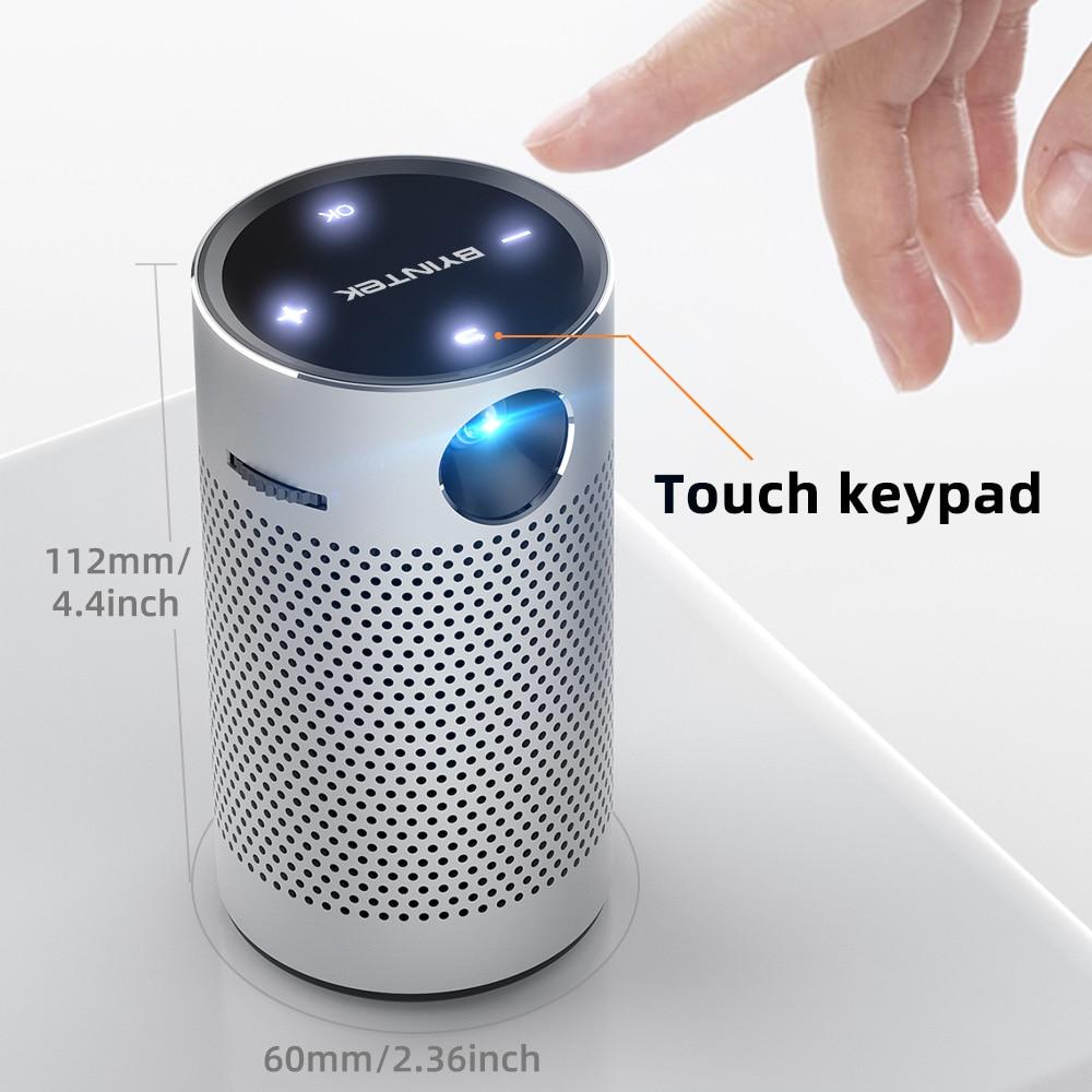 Byintek p7 projetores de bolso portátil pico inteligente android wifi 1080p 4k tv laser mini led cinema em casa telefone dlp projetor-5