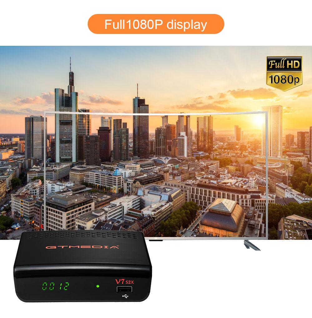 Receptor Digital USB WIFI H.265 Freesat v7s2x No aplicativo