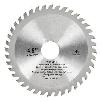 цена на 1pc 115mm 40 Teeth Saw Blades Circular Carbide Wood Cutter Saw Blade For Angle Grinder Saw Disc Cutting Wood Circular Saw Blades