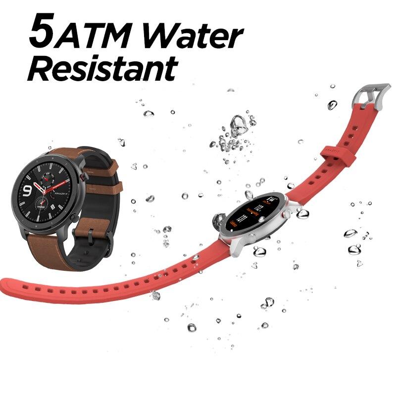 Versión Global amazfit gtr 47mm reloj inteligente Pantalla AMOLED batería de 24 días Reloj GPS 50ATM impermeable natación - 3