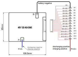 Image 3 - 48 فولت BMS 13S BMS تستخدم ل 48 فولت 10ah 20 30ah 40ah 50ah بطارية ليثيوم أيون حزمة 3.7 فولت خلية 13s PCM / PCB / BMS مع وظيفة التوازن