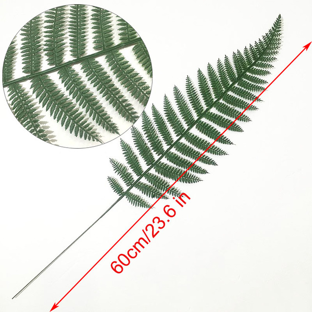 Green Artificial Palm Leaves 5pcs 6