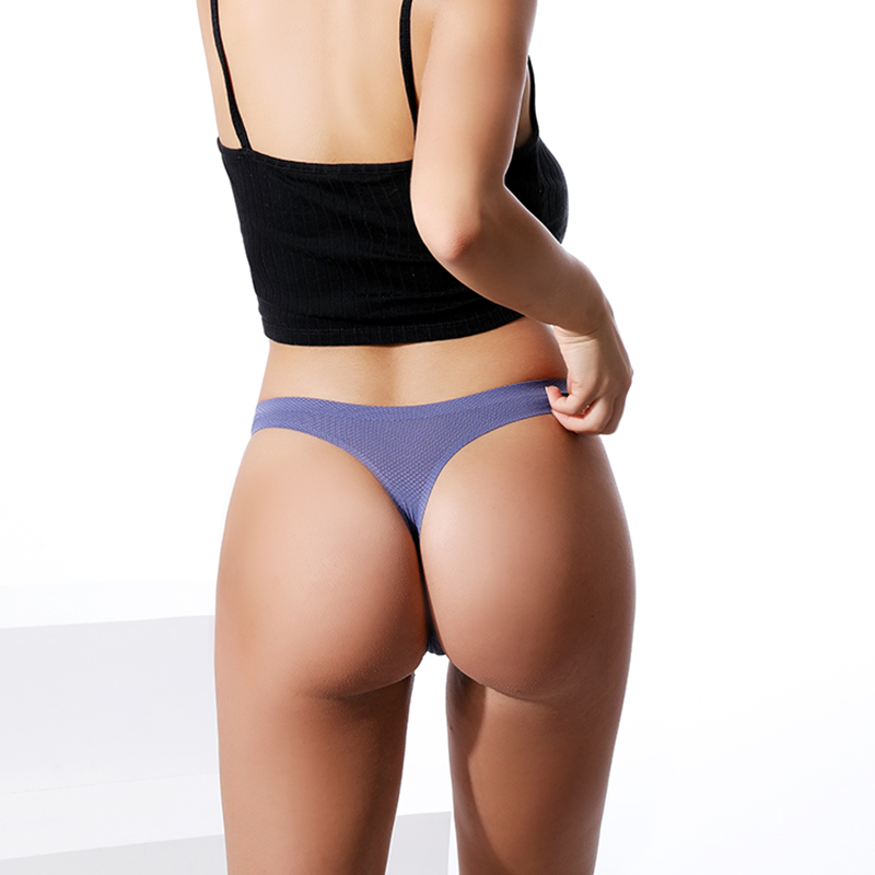 Image 3 - 3Pcs Ice Silk Seamless String Sports T back G string Mesh  Breathable Thong Sexy Panties Antibacterial Underwear Women Briefs  Newwomens panties