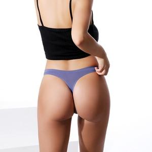 Image 3 - 3Pcs קרח משי חלק מחרוזת ספורט t בחזרה חוטיני רשת לנשימה חוטיני סקסי תחתוני אנטיבקטריאלי תחתוני נשים תחתונים חדש