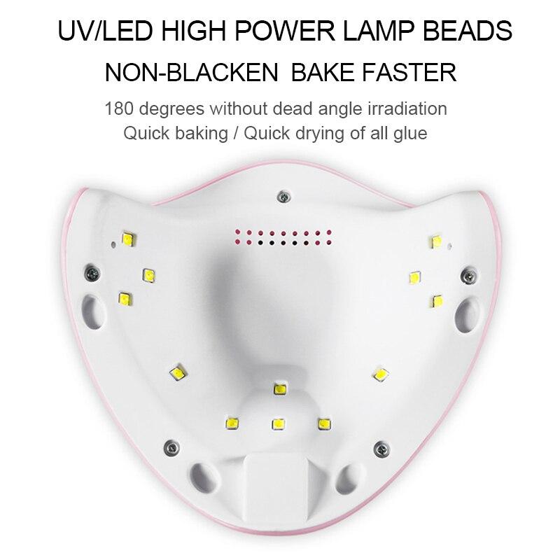 Arte Clavo 12W Nail Dryer Machine UV LED Lamp Portable Micro USB Cable Home Use UV Gel Varnish Dryer 12 LEDS Lamp Nail Art Tools 3