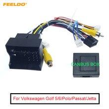 FEELDO 1 шт. Android автомобильный медиаплеер Navi Радио CANBUS BOX провод жгут для Volkswagen Golf 5/6/Polo/Passat/Tiguan/Touran