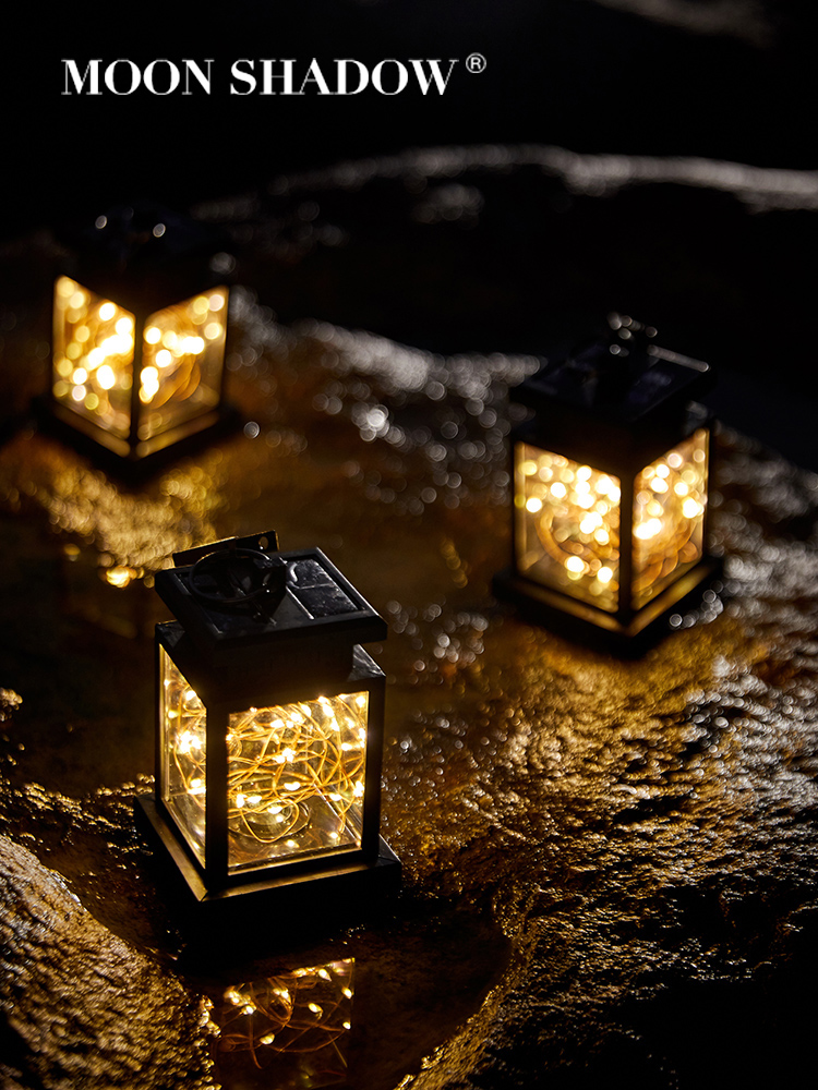 MOONSHADOW Solar Lamp Square Solar Garden Lights For Outdoor Square Fairy Lights For Party Balcony