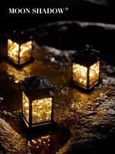 MOONSHADOW Solar Lampe Platz Solar Garten Lichter für Outdoor Platz Fairy Lichter für Party Balkon Urlaub Beleuchtung