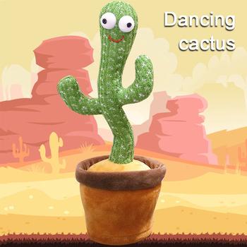 Drżenie taniec kaktus pluszowe zabawki skręcanie ciało piosenka wczesne dzieci edukacja gra pluszowe urocze tańczące zabawki z piosenką tanie i dobre opinie CN (pochodzenie)