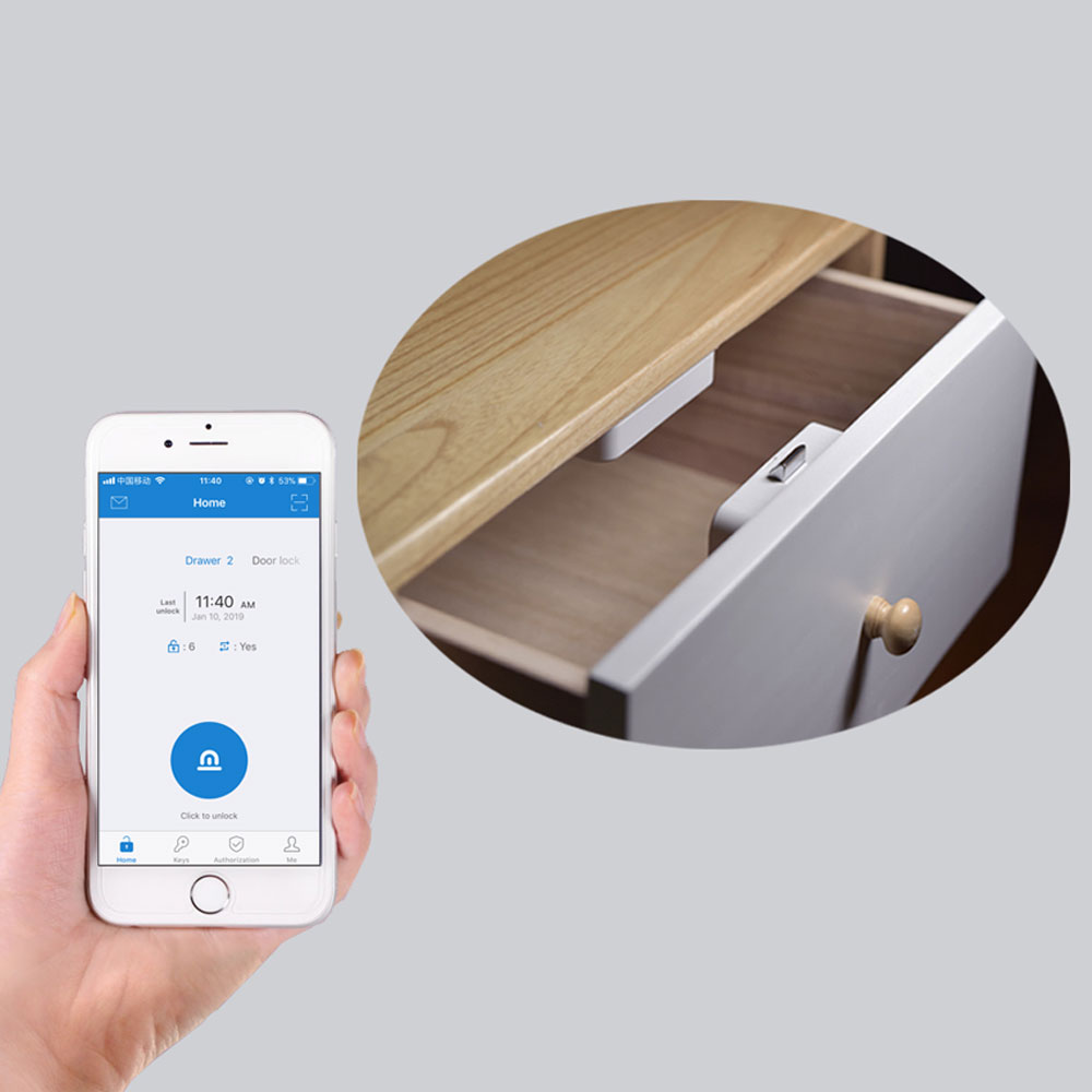 Smart Electric Bluetooth Cabinet Lock Battery Power Mobile App Control For Shoe Storage Cabinet Letter Box Door Furniture Drawer