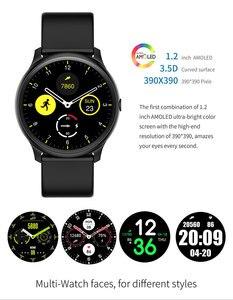 Image 3 - חדש Battiphee Smartwatch KW13 AMOLED HD מסך Ultra בהיר צבע צמיד להקת ארוך זמן המתנה ספורט מצב קצב לב צג