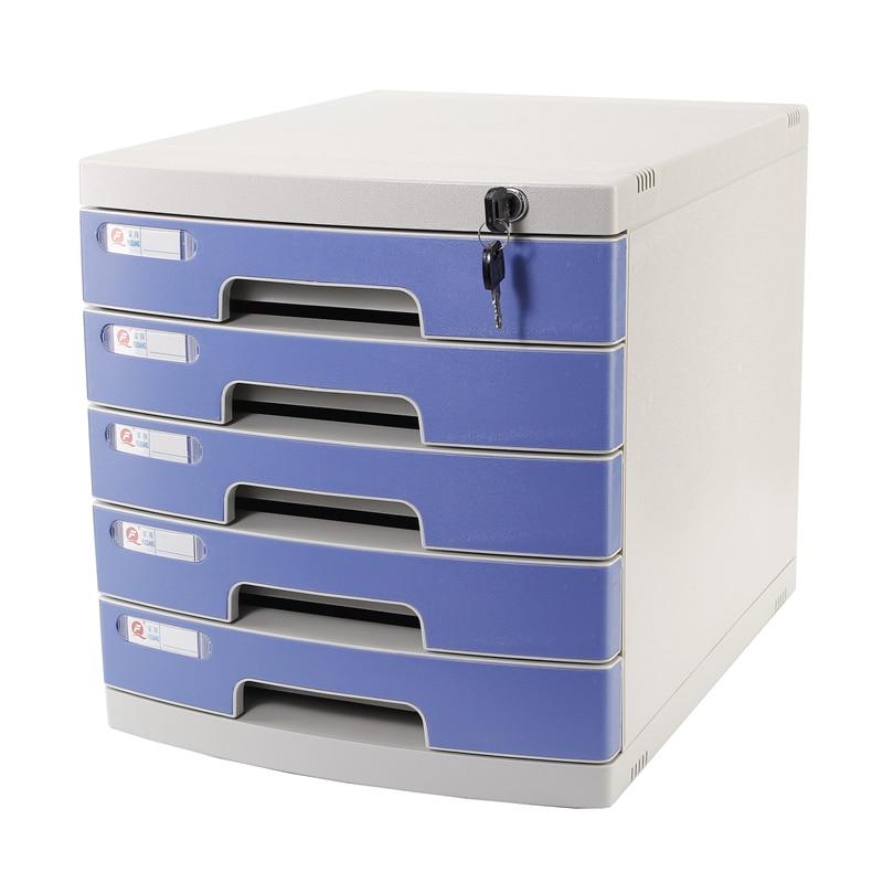 Desktop Lock File Cabinet Drawer Multi-layer Edding Box A4 File Storage Cabinet