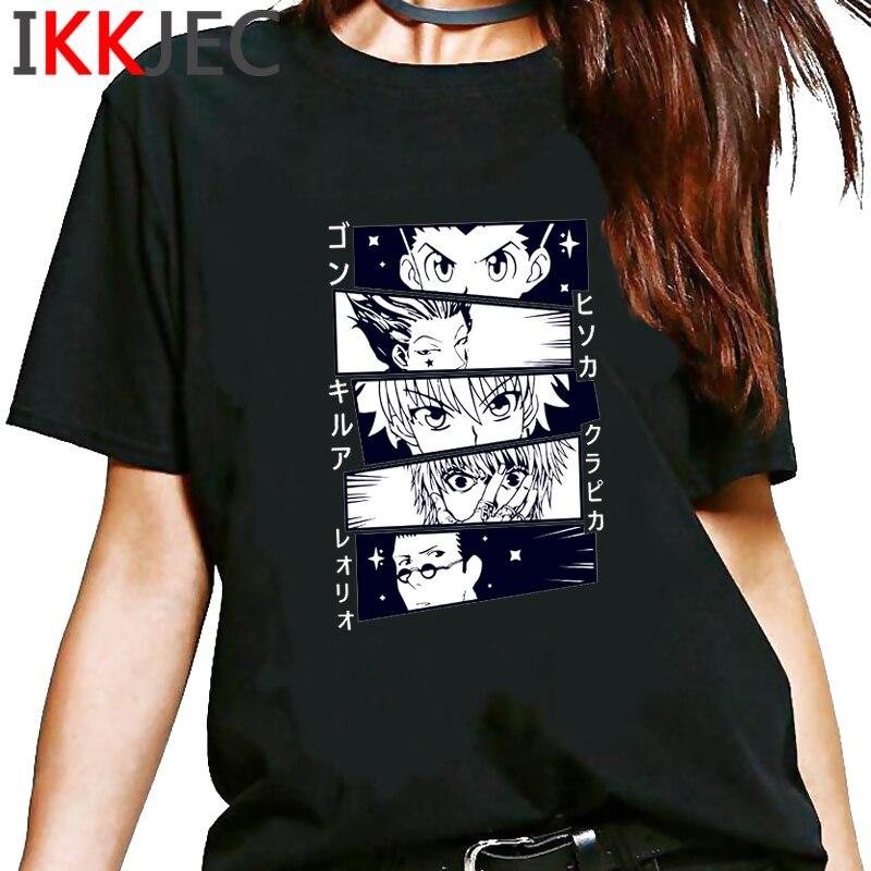 Kawaii Hunter X Hunter Tshirt Men Short Sleeve Killua Zoldyck T-shirt HXH Hisoka T Shirt Anime Manga Hip Hop Tops Tee Shirt Male