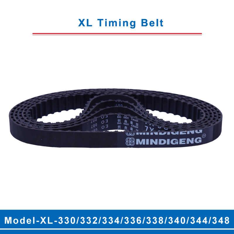 Polea De Goma 110XL-118XL Correa Dentada Cinturón sincrónica de bucle de cierre 10mm Ancho