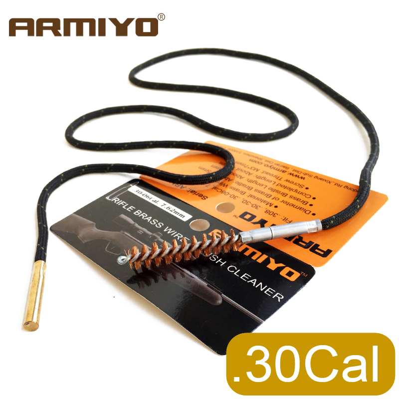 Armiyo .30Cal 7.62mm Gun Bore Brush Rifle Cleaner Set One-piece Cleaning Kit Fit AK Hunting Accessories Screw Thread 8-32