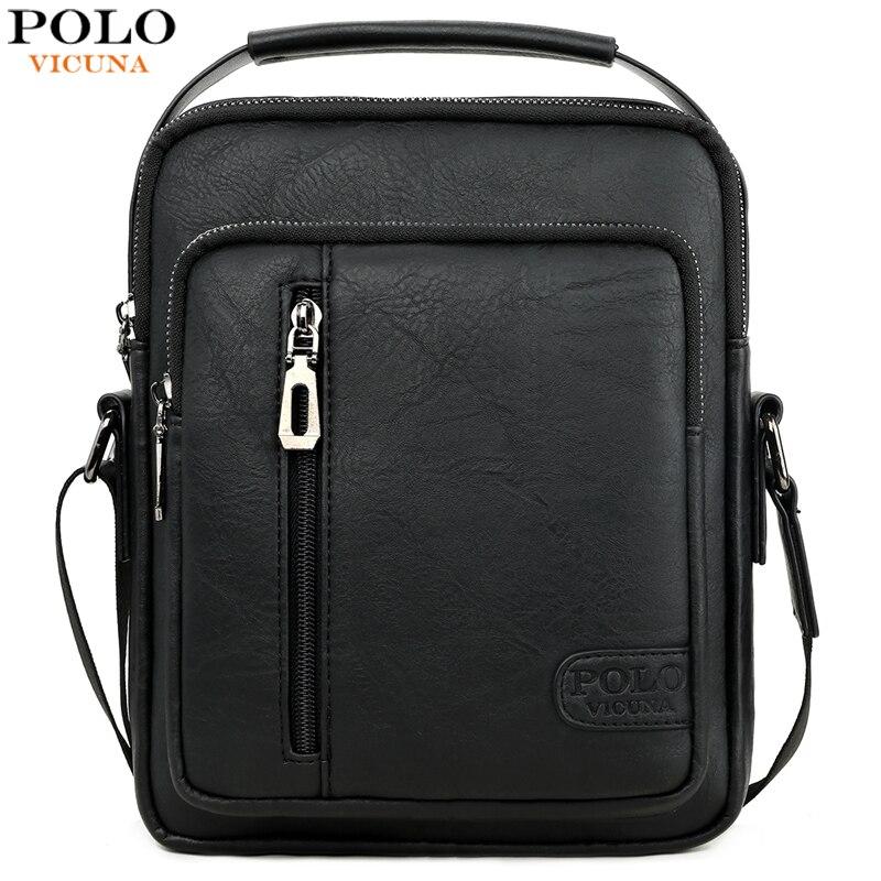 VICUNA POLO High Quality font b Mens b font Leather Messenger font b Bag b font