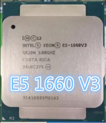 Процессор Intel Xeon V3, 3 ГГц, 8 ядер, 20 МБ, E5, 1660V3, 140 Вт, E5, 1660, V3, DDR4, 1866 МГц, МГц, 16-60 V3