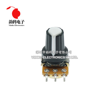 5pcs/lot WH148 1K 10K 20K 50K 100K 500K Ohm 15mm 3 Pin Linear Taper Rotary Potentiometer Resistor for Arduino with AG2 White cap 3