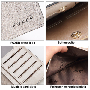 Image 5 - Card Holder Clutch Bag Wallet Female Coin Purse FOXER Brand Fashion Design