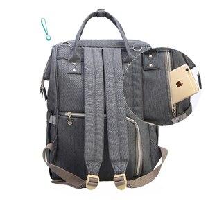 Image 4 - דיסני מיקי מיני נסיעות חיתול תיק Bolsa Maternidade עמיד למים עגלת תיק USB תינוק בקבוק חם תרמיל מומיה