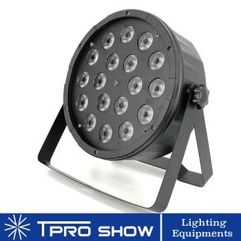 Led Light Par 18x10w Rgbw Stage Light Flat Slim Lamp Colors Wash Strobe Dimming Dmx512 Control Lighting For DJ Party Disco Club