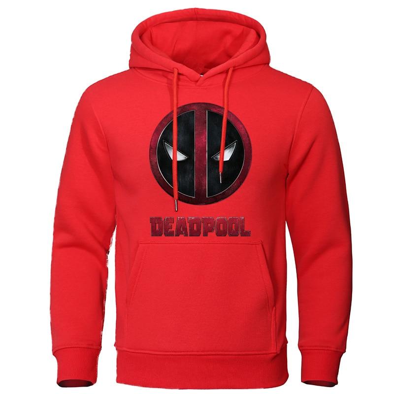 2019 New Arrival Hoodies DEADPOOL Fashion Funny Printed Casual Men's Sweatshirts Fleece Streetwear Man Hooded Brand Tracksuit