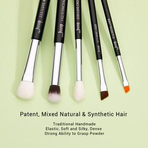 Image 2 - ジェサップ構成するブラシセットブラシ化粧ブラシ15個黒/シルバーアイライナーシェーダ自然な人工毛