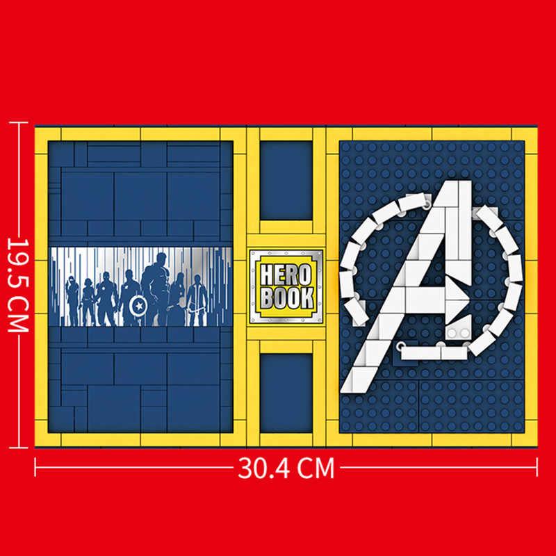 Yeni 1012 adet 18 rakamlar süper demir kahramanlar koleksiyon baskı kitap modeli adam kaptan yapı taşları tuğla çocuk hediye Diy oyuncaklar