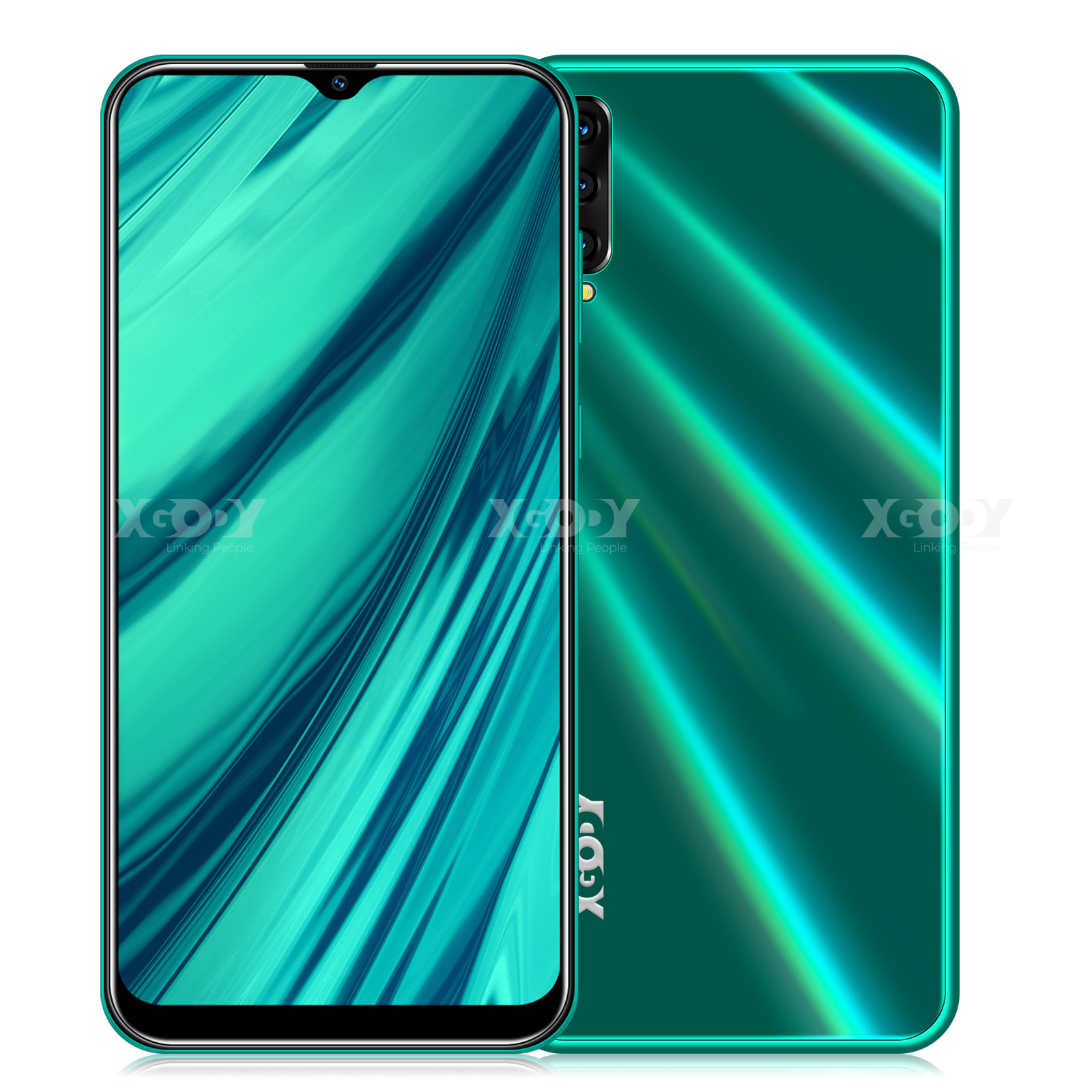 XGODY A90 3G Smartphone Android 9.0 6.5inch 19:9 Full Screen 2GB 16GB MTK6580 Quad Core 5MP Camera 2700mAh Mobile Phone