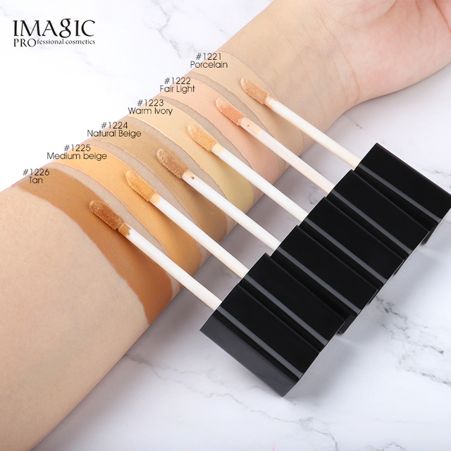 IMAGIC Eye Concealer & Base 6 Colors Full Coverage Suit for All Color Skin Face / Eye Makeup Liquid Concealer 1