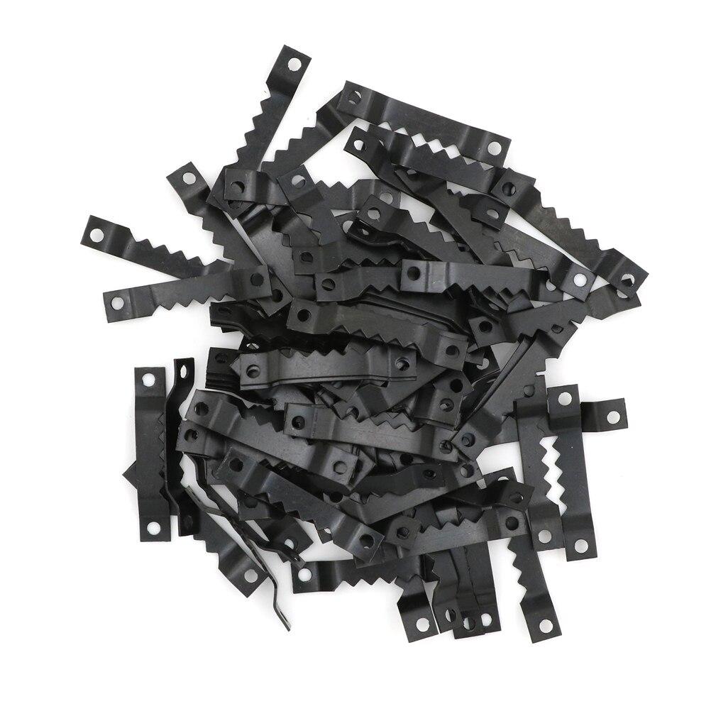 100 шт., чёрные крючки для пилы, 40 х7 мм