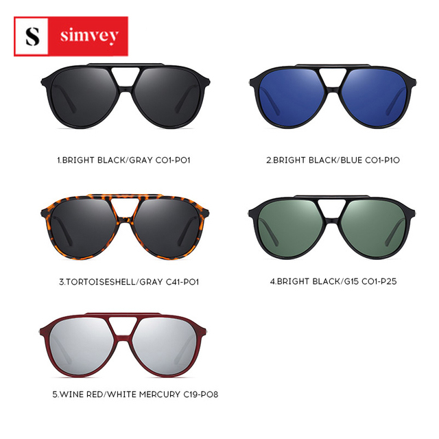 2020 Fashion Oversized Polarized Sunglasses Vintage Women Mens Aviator Sunglasses Brand Design 4