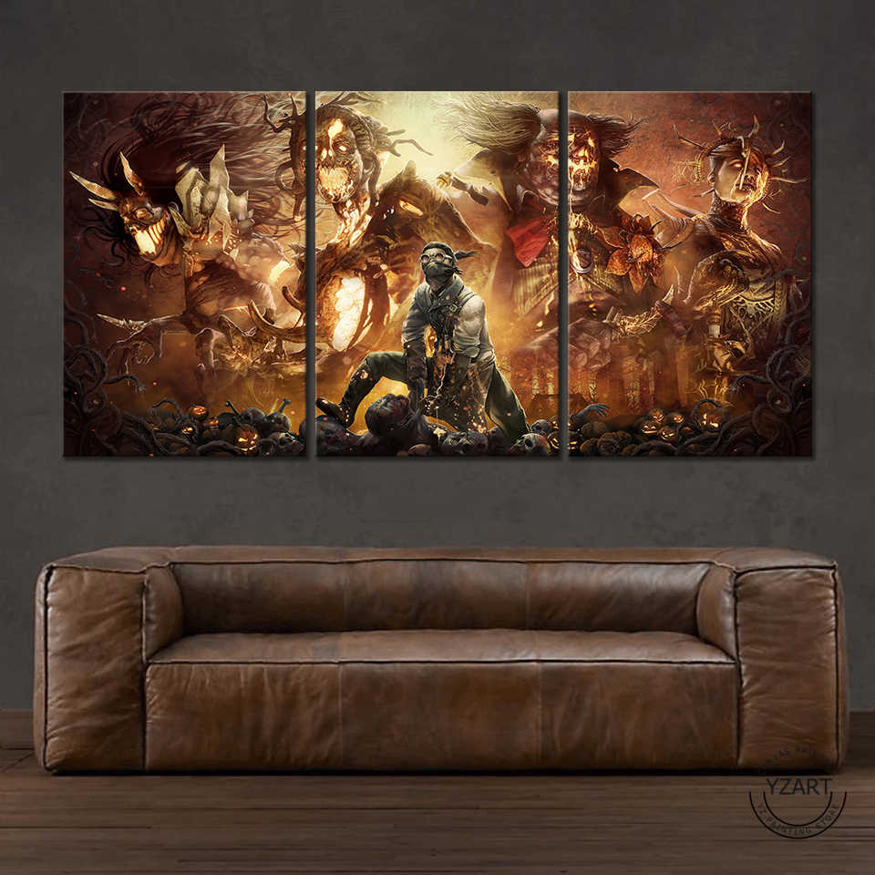 3pcs game poster paintings dead by