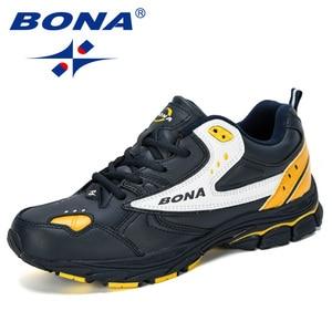 Image 5 - BONA 2019 New Designer Professional Leather Running Shoes Men Spring Autumn Walking Shoes Men Athletic Jogging Sneakers Footwear
