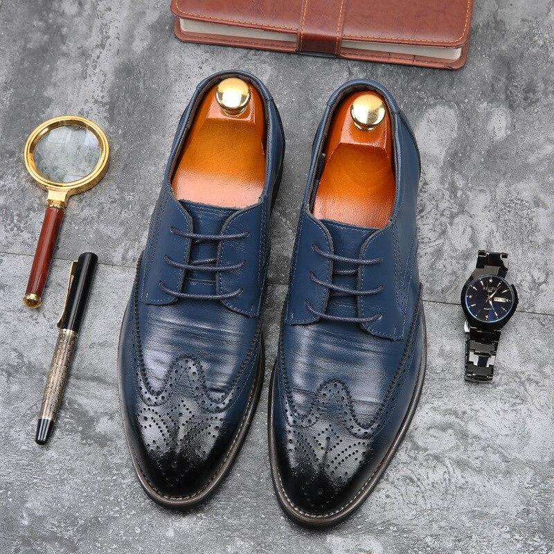 Men Formal Shoes Office Social Designer Wedding Luxury Elegant Male Dress Shoes 2020 New Tyh67