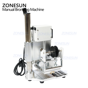 Image 5 - ZONESUN ZS 100 이중 목적 뜨거운 호 일 스탬핑 기계 PVC 카드 가죽 및 종이 스탬핑 기계에 대 한 수동 청동 기계