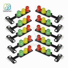 10pcs Mini 5V Traffic Light LED Display Module for Arduino Red Yellow Green 5mm LED RGB Traffic Light 100mm diameter red yellow green cluster one piece traffic signal module