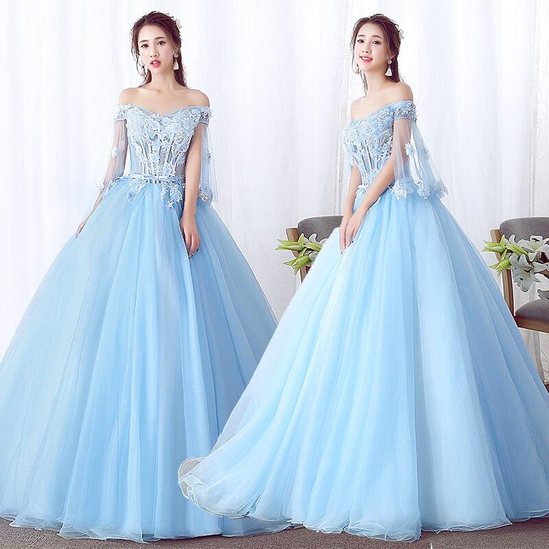 Romantic V Neck Lace Up Quinceanera Dress 2019 Gorgeous Appliques Beaded Flowers Debutante Dress For Vestido De 15 Anos