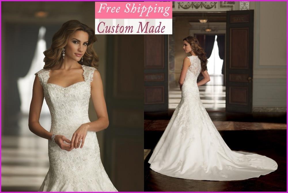 2019 Novo Elegante Sereia Beading Querida Vestido De Cetim White/marfim Vestidos De Noiva Personalizado- Feito Wedding Dress