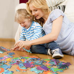 Image 4 - Mideer 104個の子供のジグソーパズルパズルのおもちゃ赤ちゃんの知的パズルコンビネーション紙子供のギフトパズルボックス3 6Y
