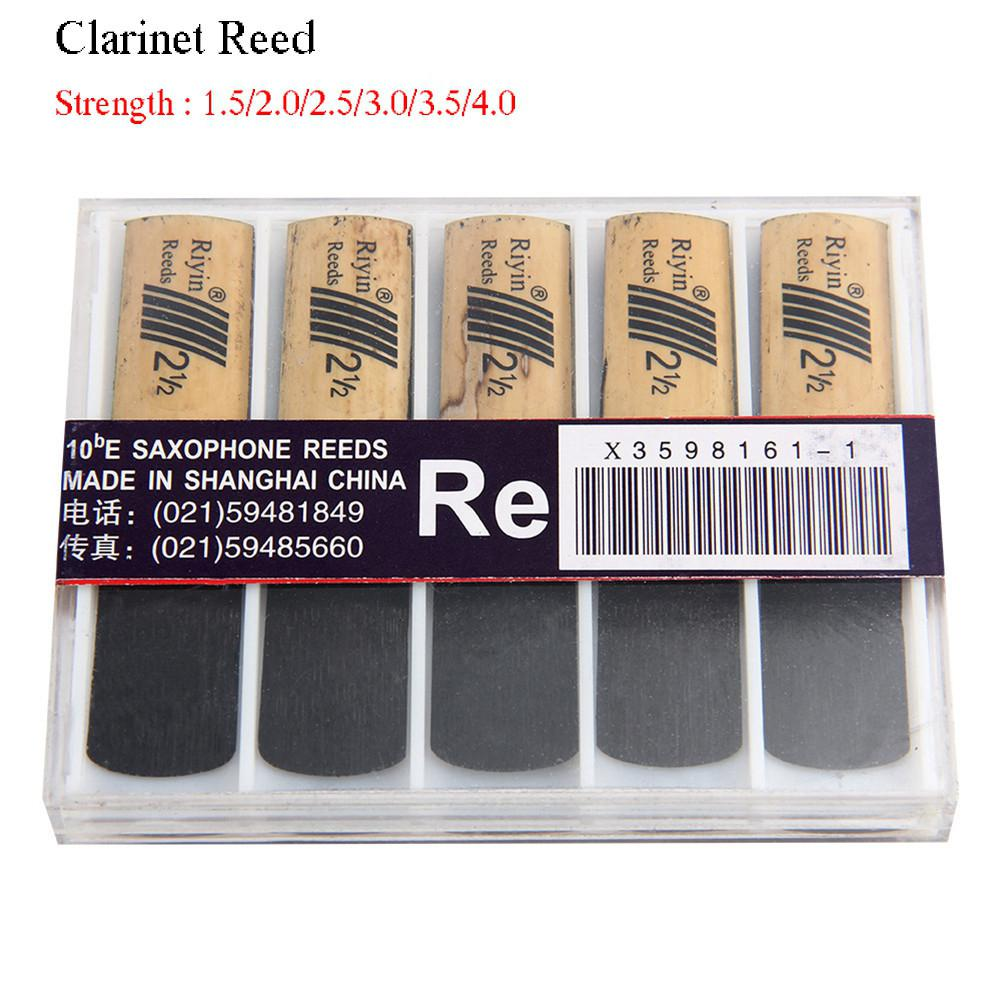 10pcs Clarinet Reeds Set With Strength 1.5/2.0/2.5/3.0/3.5/4.0 Wind Instrument Reed Musical Instrument Accessories