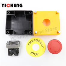 E-stop Push button emergency stop switch button box one normally open and one normally closed
