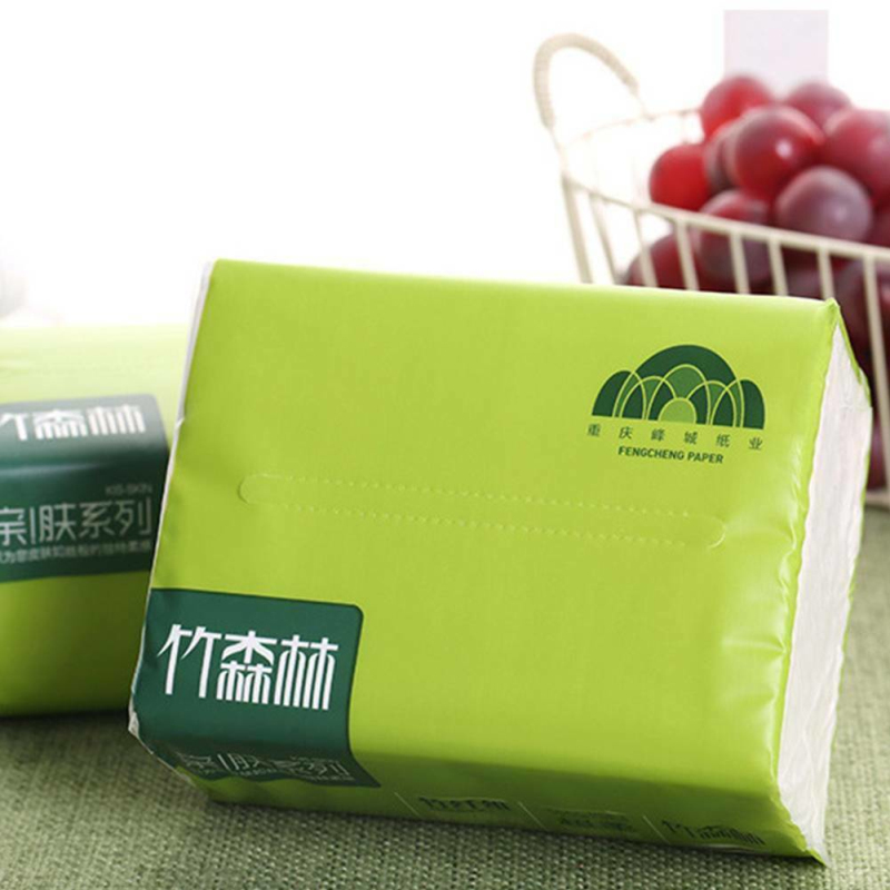 2020 New 1 Packet Of Napkins Log Pumping Paper Towels Baby Paper Towels Household Natural Color Pumping Paper Toilet Tissue HOT